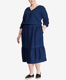 Lauren Ralph Lauren Plus Size Linen Cotton Dress