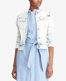 Lauren Ralph Lauren Frayed Denim Jacket
