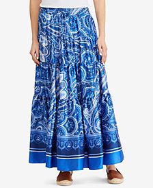Lauren Ralph Lauren Tiered A-Line Skirt