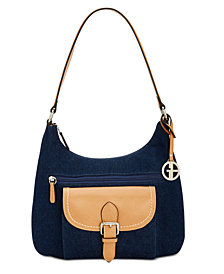 Giani Bernini Denim Hobo, Created for Macy's