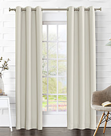 "Sun Zero Preston 80"" x 63"" Blackout Grommet Curtain Panel Pair"