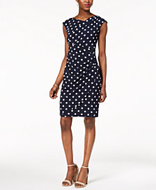 Connected Petite Draped Sheath Dress