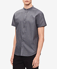 Calvin Klein Men's Seersucker Banded Collar Shirt, Created for Macy's