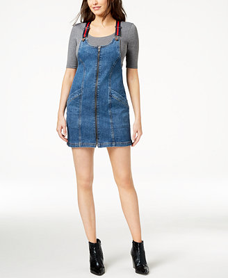 Marcelle Denim Jumper Dress, Created For Macy's by M1858