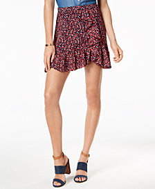 MICHAEL Michael Kors Ruffled Floral-Print Skirt