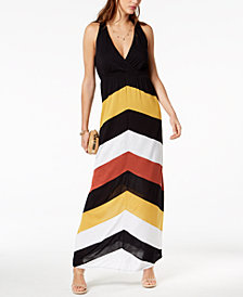 I.N.C. Chevron Racerback Dress, Created for Macy's