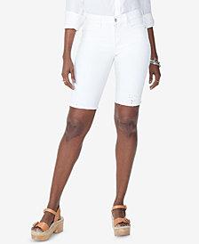 NYDJ Briella Tummy-Control Eyelet Bermuda Shorts