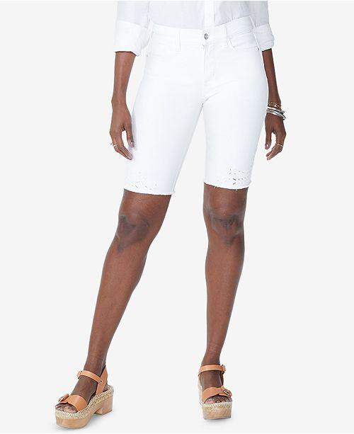 bd06fd8274a47 NYDJ Briella Tummy-Control Eyelet Bermuda Shorts - Shorts - Juniors ...