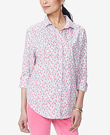NYDJ Printed Cotton Shirt