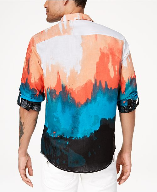 8a4aec9f365 INC International Concepts I.N.C. Men s Tie Dyed Button Down Shirt ...