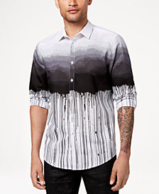 I.N.C. Men's Ombré Striped Shirt, Created for Macy's