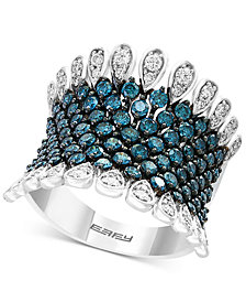 Belle Bleu by EFFY® Diamond Statement Ring (1-3/4 ct. t.w.) in 14k White Gold
