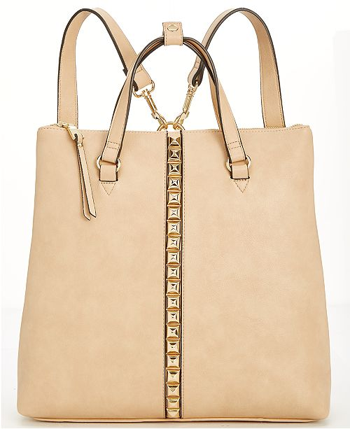 4b6ea3f2bbd ... INC International Concepts I.N.C. Faany Studded Convertible Backpack