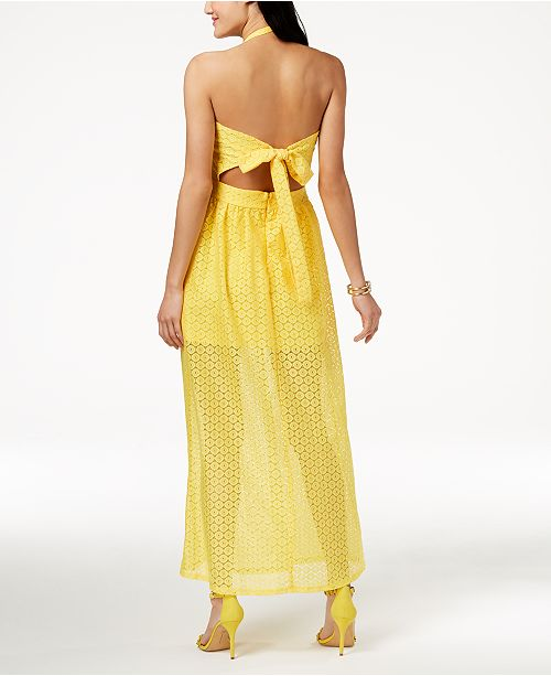 669dd7f553c4 The Edit By Seventeen Juniors' Crocheted Maxi Dress, Created for Macy's ...