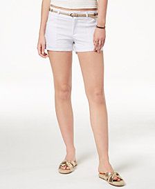 Be Bop Juniors' Belted Pineapple-Charm Shorts