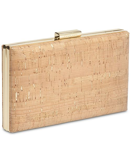 e7686e56f5d Calvin Klein Cork Small Clutch & Reviews - Handbags & Accessories ...