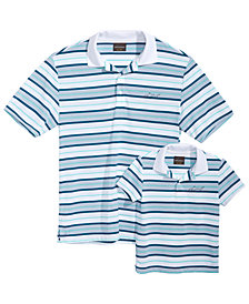 Greg Norman for Tasso Elba Men's & Kids Printed Polos, Created for Macy's