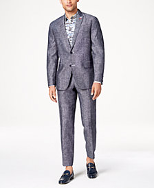 I.N.C. Men's Slim-Fit Textured Linen Suit Separates, Created for Macy's