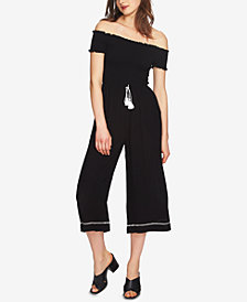 1.STATE Smocked Off-The-Shoulder Jumpsuit