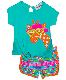 Rare Editions Baby Girls 2-Pc. Graphic-Print T-Shirt & Shorts Set
