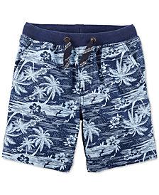 Carter's Little Boys Palm-Print Cotton Shorts