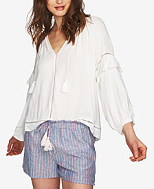 1.STATE Tassel-Detail Peasant Top
