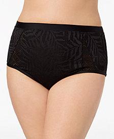 Jessica Simpson Plus Size Crochet High-Waist Bikini Briefs