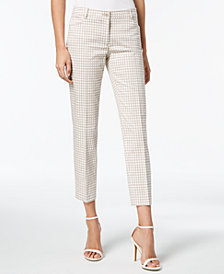Anne Klein Printed Straight-Leg Pants