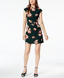 Marella Benares Floral-Print Belted Dress