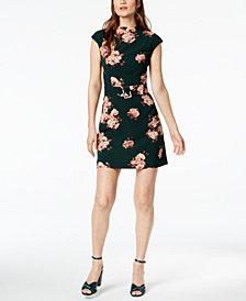 Marella Benares Floral-Print Belted Dress