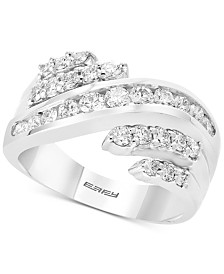 Pavé Classica by EFFY® Diamond Statement Ring (9/10 ct. t.w.) in 14k White Gold