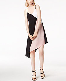 Bar III Colorblocked Slip Dress, Created for Macy's