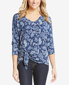 Karen Kane Dolman-Sleeve Side-Tie Top