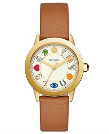 Tory Burch Women's Gigi Brown Leather Strap Watch 36mm