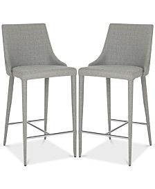 Channing Linen Counter Stool, Quick Ship