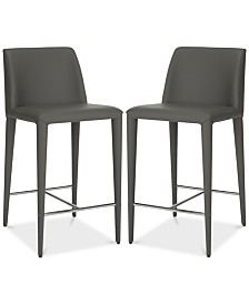 Erin Counter Stool (Set of 2), Quick Ship