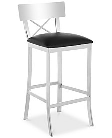 Elward Faux Leather Bar Stool, Quick Ship