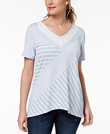 Alfred Dunner Daydreamer Mixed-Media Top