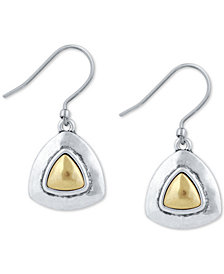 Lucky Brand Two-Tone Triangular Drop Earrings