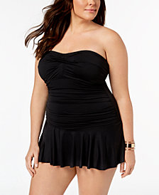 Lauren Ralph Lauren Plus Size Underwire Tummy Control Swimdress