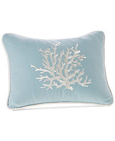 """Harbor House Coastline 12"""" x 16"""" Embroidered Oblong Decorative Pillow"""