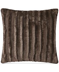 """Madison Park Duke Ribbed 20"""" Square Faux-Fur Decorative Pillow"""