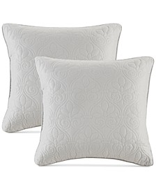 "Quebec 20"" x 20"" Quilted Decorative Pillow 2-Pack"