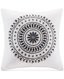 "INK+IVY Fleur 18"" Square Embroidered Decorative Pillow"
