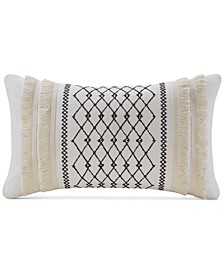 """Bea 12"""" x 20"""" Embroidered Oblong Decorative Pillow"""