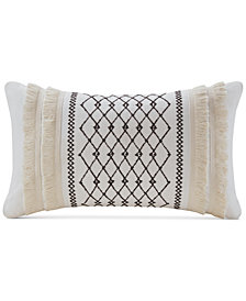 "INK+IVY Bea 12"" x 20"" Embroidered Oblong Decorative Pillow"
