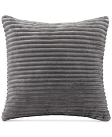 """Parker Reversible Corduroy Plush 20"""" Square Decorative Pillow"""