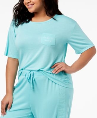 by Jennifer Moore Plus Size Graphic-Pocket Pajama T-Shirt, Created for Macy's