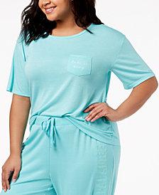 Jenni by Jennifer Moore Plus Size Graphic-Pocket Pajama T-Shirt, Created for Macy's