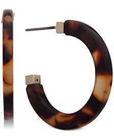Gold-Tone Tortoiseshell-Look Small Hoop Earrings  s